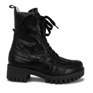 Women's Lace Up Black Ankle Combat Boots